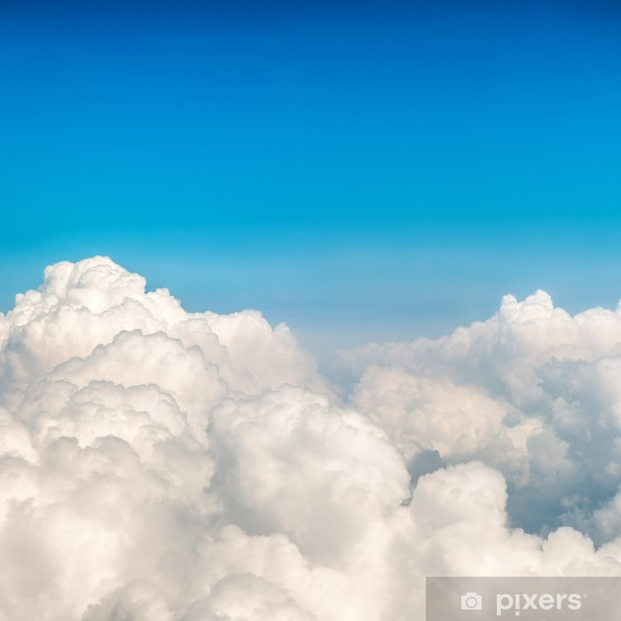 Blue clouds and sky Vinyl Wall Mural - Landscapes