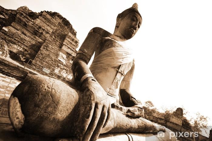 Papier peint vinyle Monuments de buddah, des ruines d'Ayutthaya en Thaïlande ancienne capitale - Thèmes
