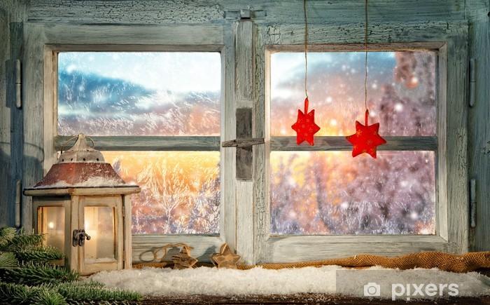 Fototapeta winylowa Okno atmosferyczne Narodzenie dekoracji parapet - Święta międzynarodowe