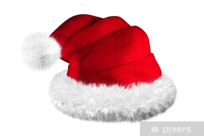 Bonnet De Pere Noel Bondu Père Noël sur fond blanc Wall Mural • Pixers®   We live
