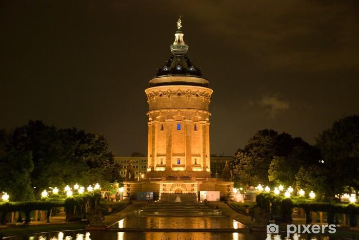 Papier peint vinyle Wasserturm Mannheim - Europe