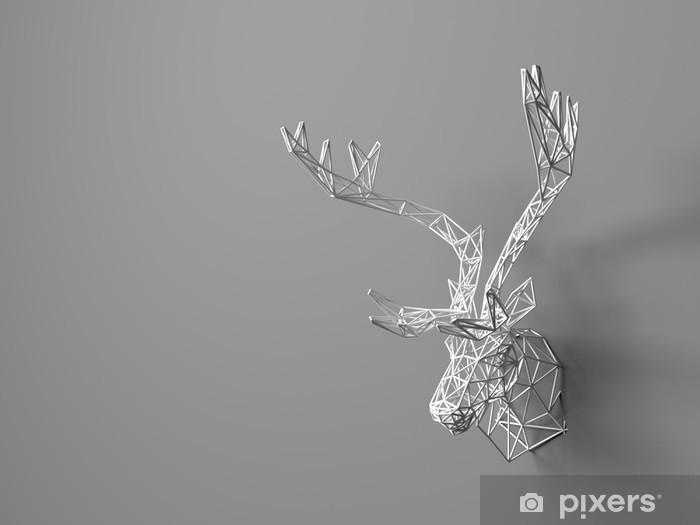 hjortehoved til væg