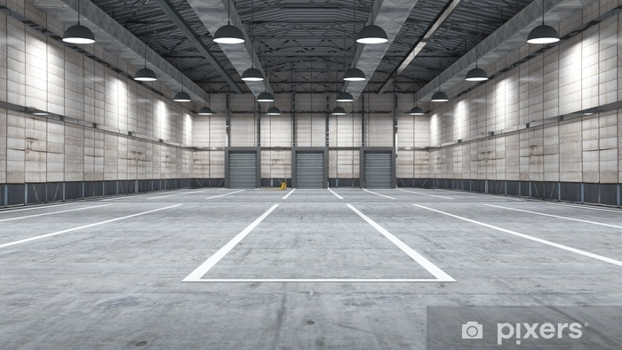 Large modern storehouse with some goods Vinyl Wall Mural - Buildings and Architecture