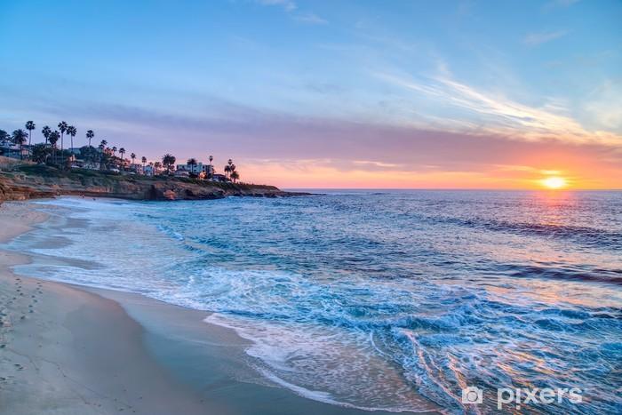 Papier peint vinyle Coucher de soleil magnifique à La Jolla en Californie - Villes américaines