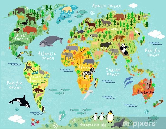 Aufkleber World map - Pixerstick