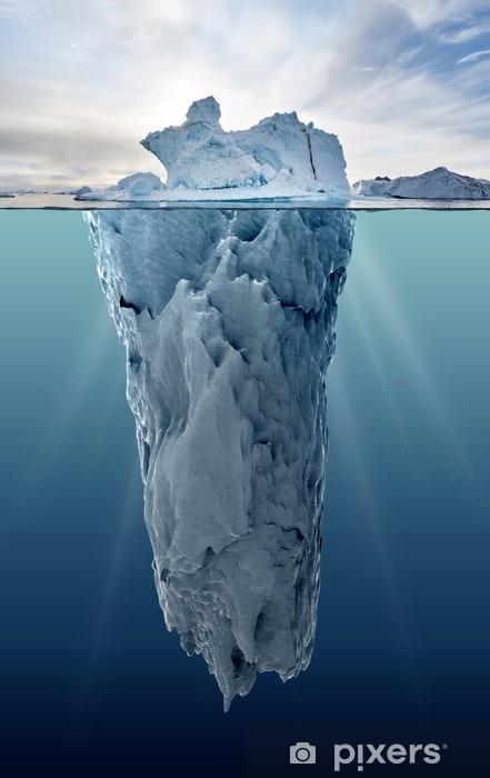 Fotomural Estándar Iceberg con visión subacuática - Paisajes