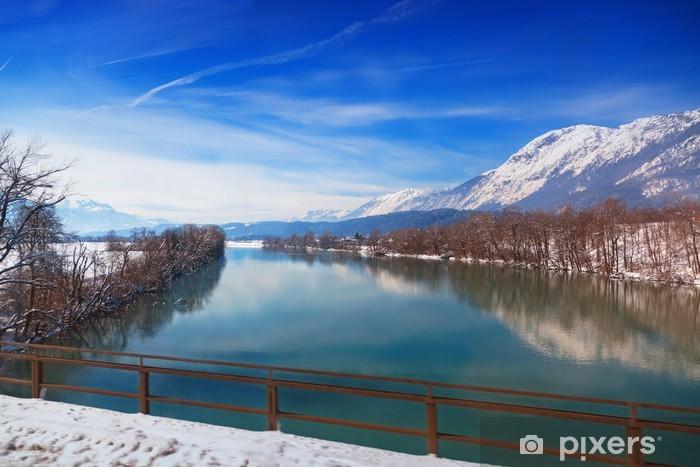 Vinyl-Fototapete Berge und Fluss - Österreich - Berge