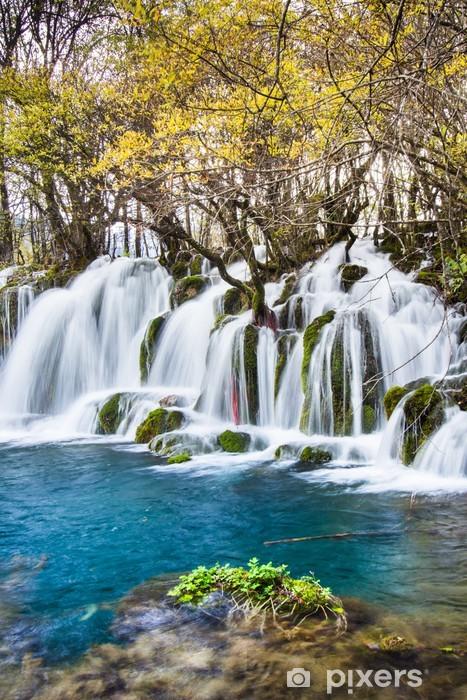Fototapete Pfeil Bambus Wasserfall Jiuzhaigou Landschaftlich