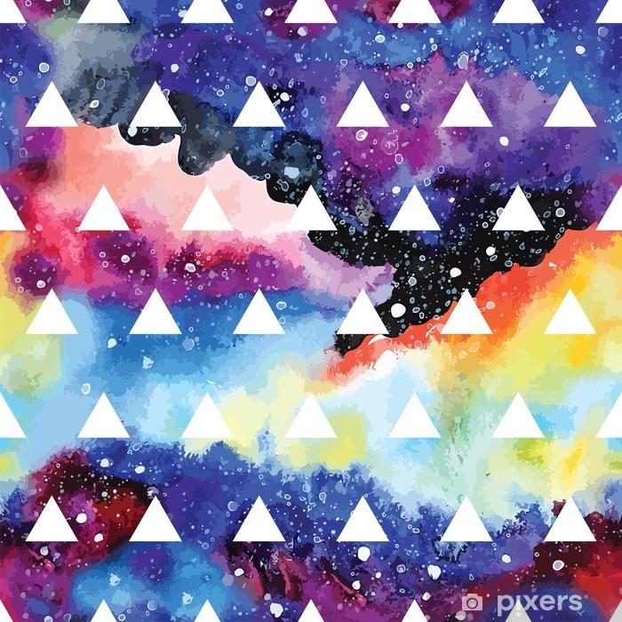 Vinyl Fotobehang Galaxy naadloos patroon. - Grafische Bronnen