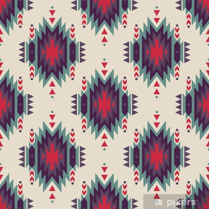 Vinil Duvar Resmi Vektör sorunsuz dekoratif etnik desen. Amerikan Hint motifleri. Aztek aşiret takı ile Arkaplan. - Grafik kaynakları