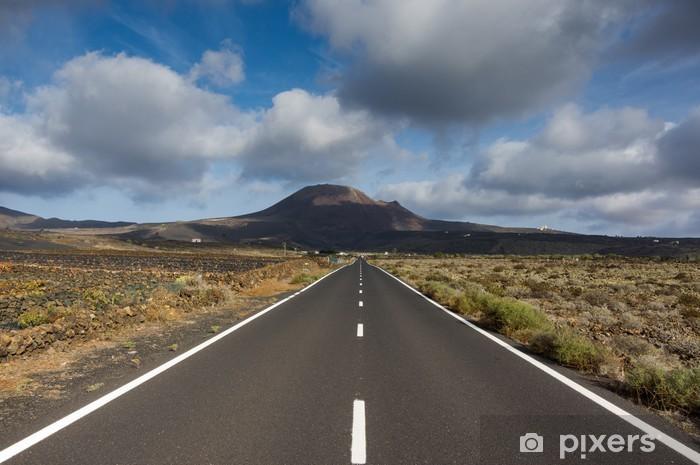 Sticker Pixerstick Lanzarote route panoramique - Nature et régions sauvages