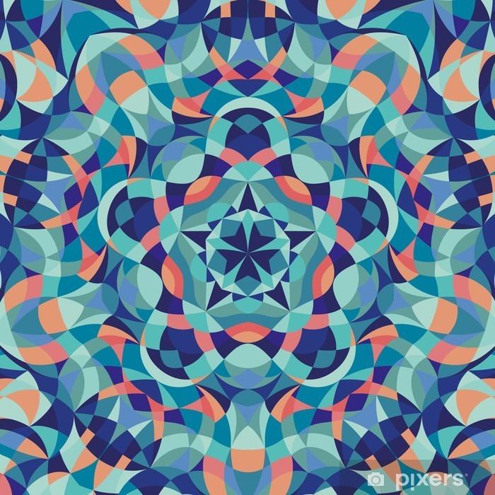 Fototapeta winylowa Kalejdoskop geometrycznej kolorowy wzór. Streszczenie tle. ilustracji wektorowych - Zasoby graficzne