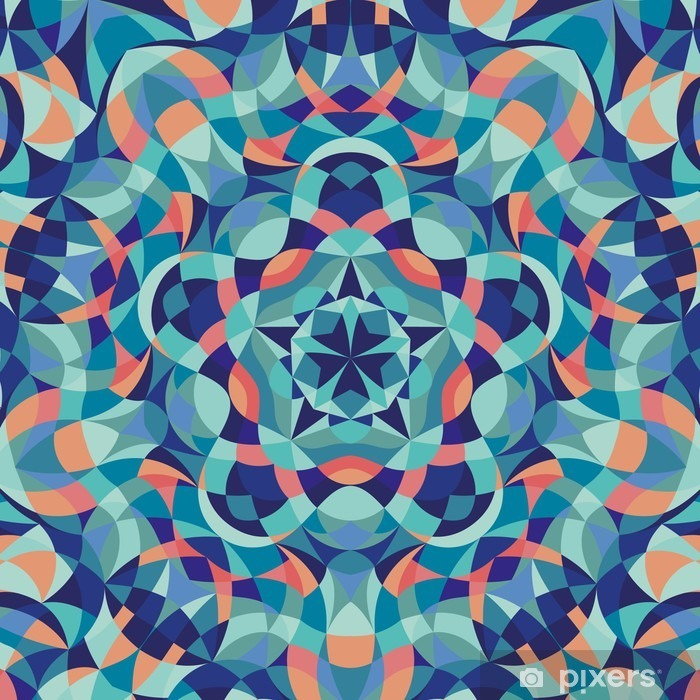Kaleidoscope geometric colorful pattern. Abstract background. Vector illustration Self-Adhesive Wall Mural - Graphic Resources