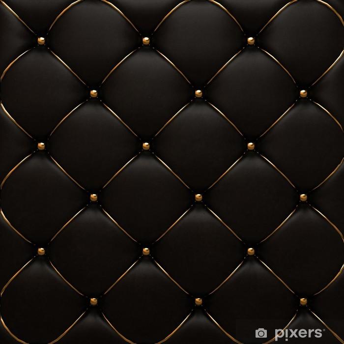 Pixerstick Sticker Het goud lederen textuur van de huid gewatteerde - Achtergrond