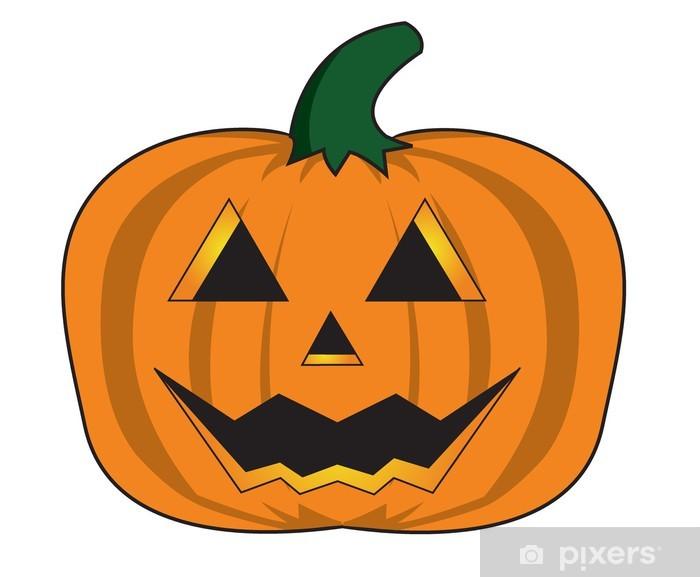 Pompoen Voor Halloween.Fotobehang Vinyl Gesneden Halloween Pompoen