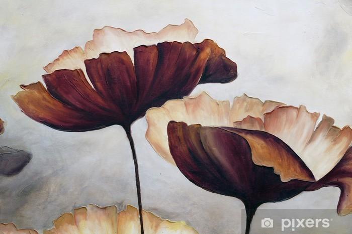 Vinyl Fotobehang Poppy abstract schilderij - Hobby's en Vrije tijd