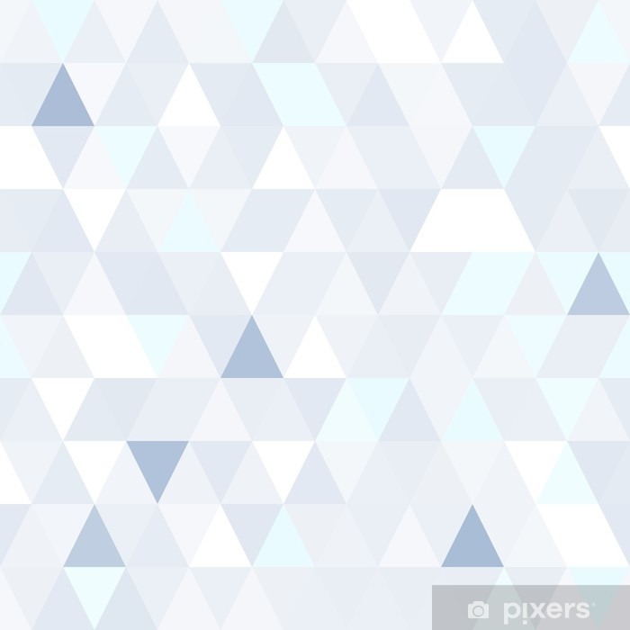 Plakat Trójkątny kształt połyskujący niebieski wzór. geometryczne błyszczące tło. - Zasoby graficzne