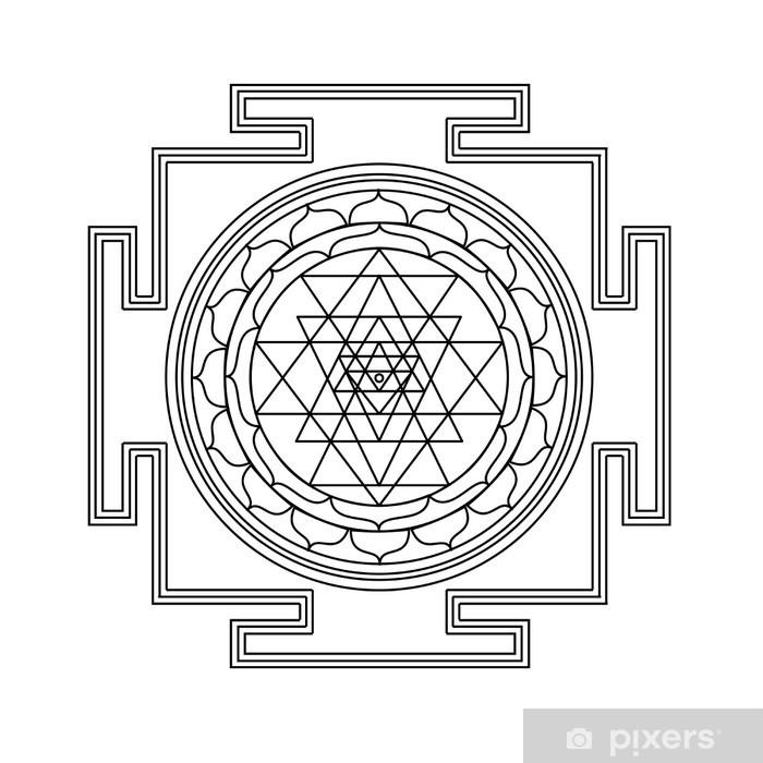 Carta da Parati in Vinile Vettore Shri Yantra - Segni e Simboli
