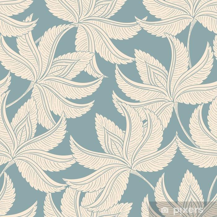 Pixerstick Aufkleber Jahrgang sanfte Muster - Pflanzen und Blumen