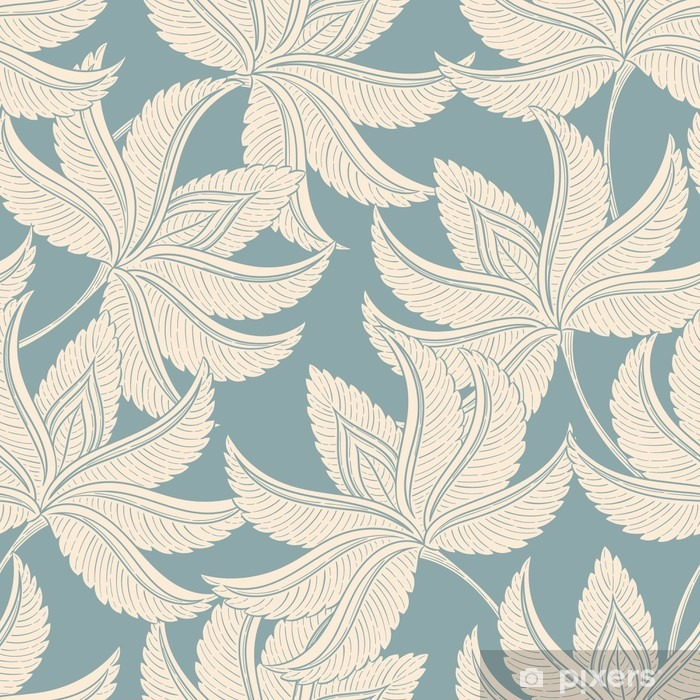 Vintage gentle pattern Pixerstick Sticker - Plants and Flowers