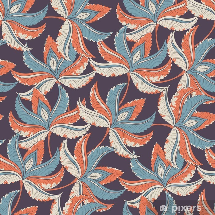 Seamless retro pattern Pixerstick Sticker - Plants and Flowers