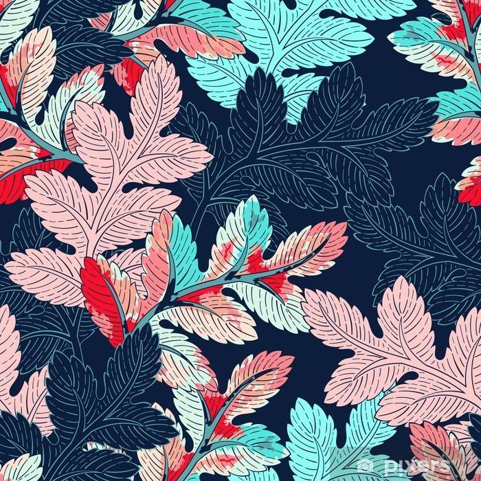 Pixerstick-klistremerke Gren sømløs mønster - Planter og Blomster