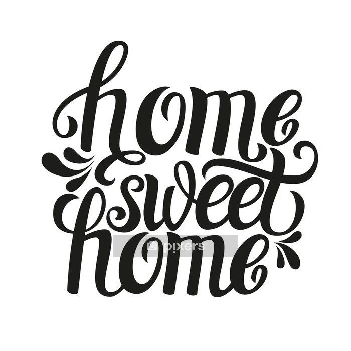 Hand lettering typography poster 'Home sweet home' Wall Decal - Graphic Resources