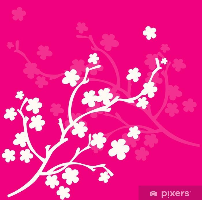 Fototapeta zmywalna Oddział fuksja różowe kwiaty - Tła