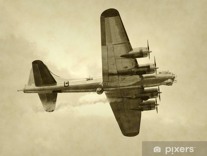 Naklejka Pixerstick Era ii wojny światowej amerykański bombowiec - Tematy