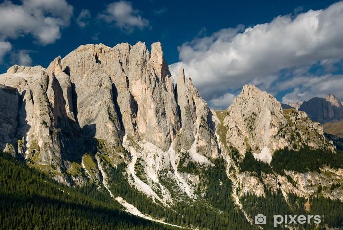 Sticker Pixerstick Chaîne de montagnes Rosengarten, Dolomites, Italie - Montagne
