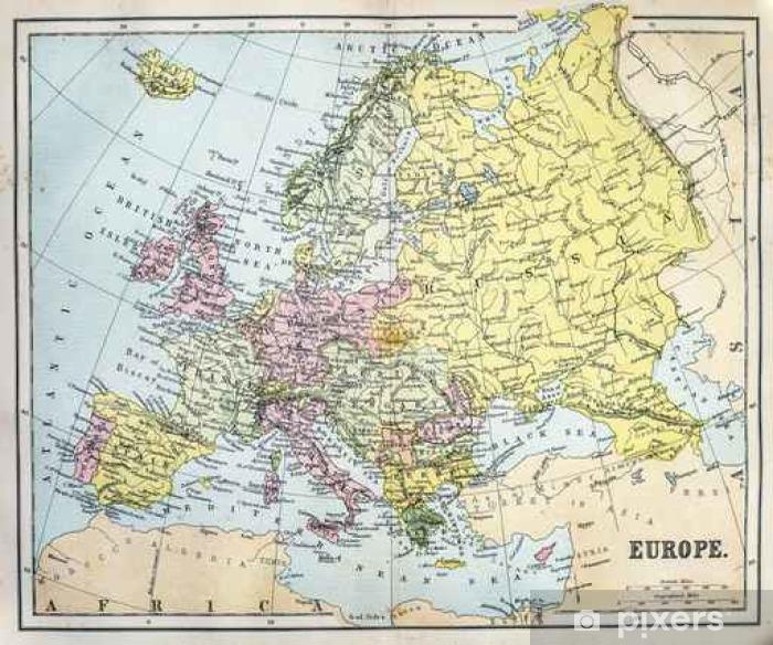 1800 Luvun Euroopan Kartta Juliste Pixers Elamme Muutoksille
