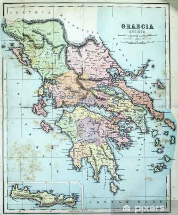 Fototapeta Mapa Starozytnej Grecji Pixers Zyjemy By Zmieniac