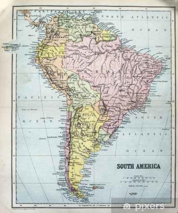 Vinilo Pixerstick Mapa de América del Sur - Recursos gráficos