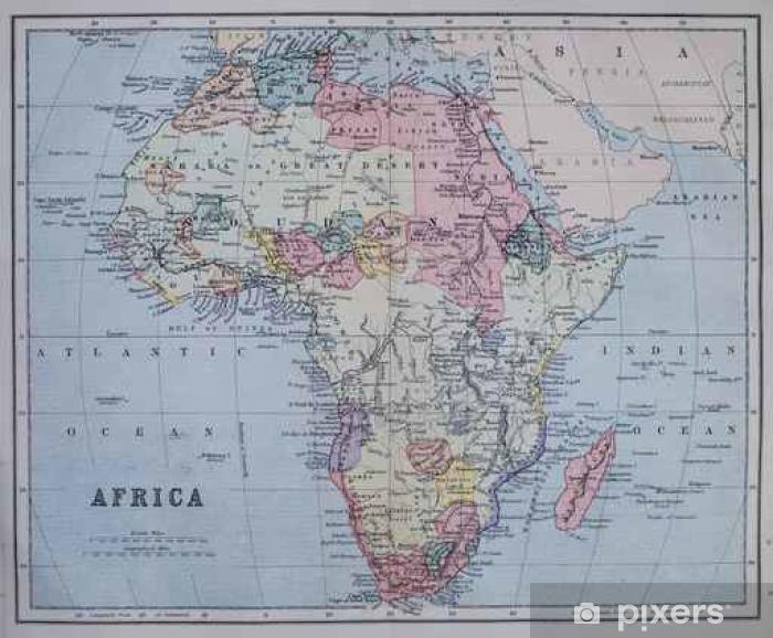 Vinyl Fotobehang Kaart van koloniaal Afrika - Grafische Bronnen