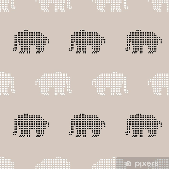 seamless elephant pattern Vinyl Wall Mural - Kids room