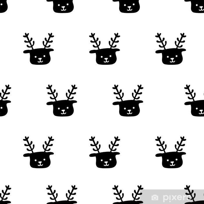 seamless deer pattern Vinyl Wall Mural - Graphic Resources