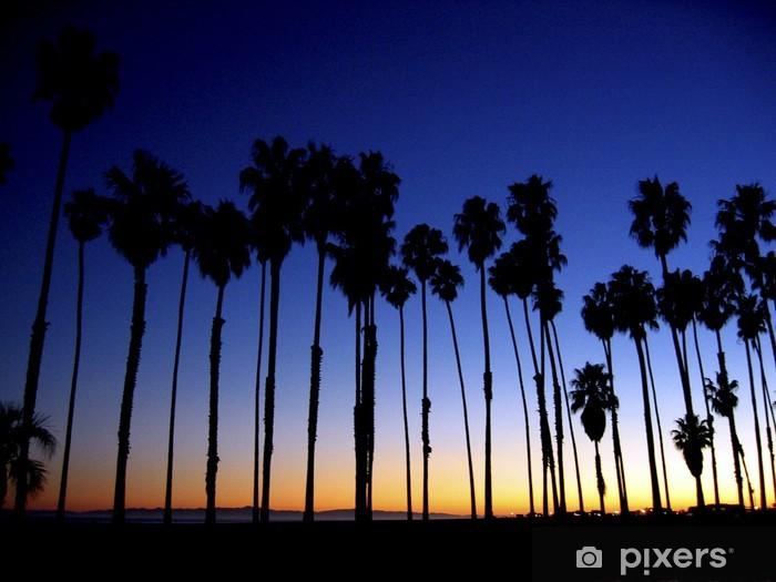Nálepka Pixerstick Palmy za soumraku - Prázdniny