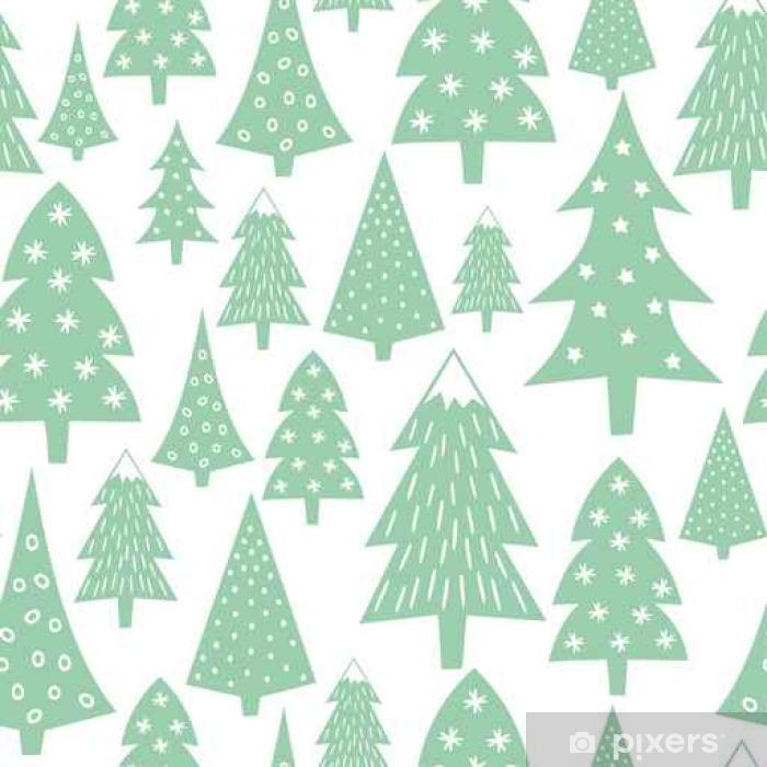 Vinilo Pixerstick Modelo De La Navidad Variado Los árboles De