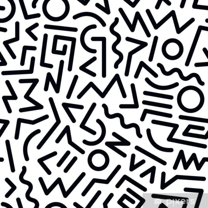Pixerstick Aufkleber 80er Jahre Muster - Grafische Elemente