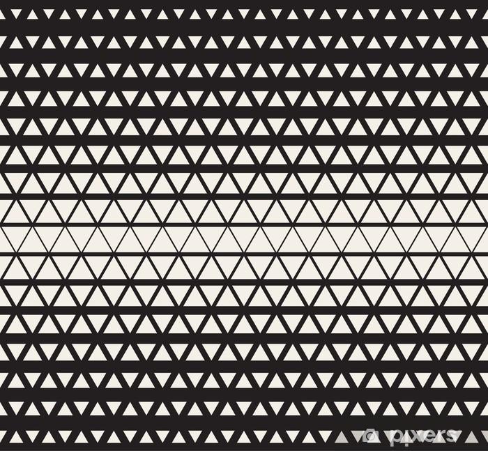 17fe29751e8dd Vinilo Pixerstick Sin fisuras vector Blanco y Negro Triángulos de medios  tonos patrón de cuadrícula de