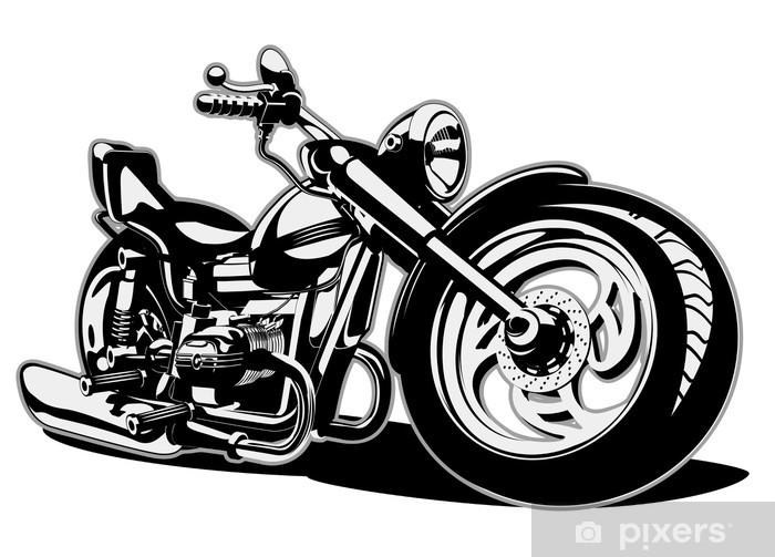 Vinilo Vector De Dibujos Animados Moto Pixerstick