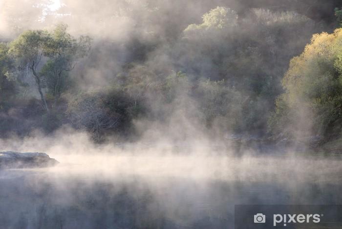 Efterårsdyr over stillevand i en New Zealand regnskov Vinyl fototapet - Natur og Vildmark