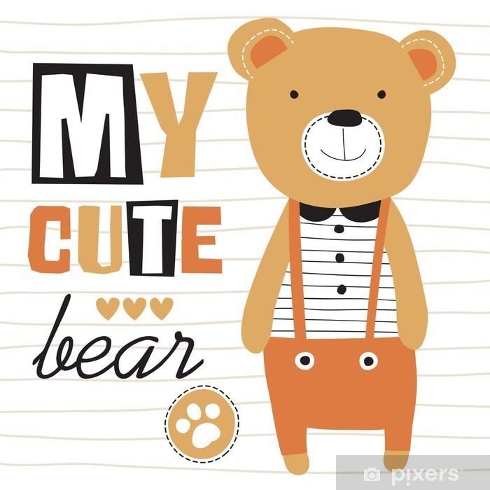 my cute teddy bear vector illustration Vinyl Wall Mural - Animals