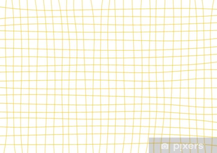 Vinil Duvar Resmi Sarı hardal ızgara beyaz arka plan en az vektör çizim - Grafik kaynakları