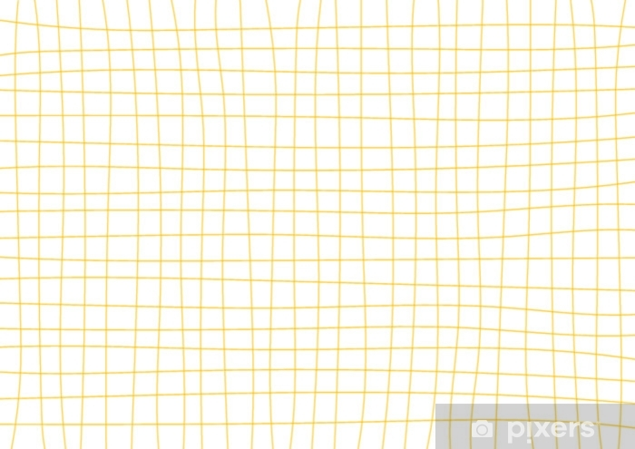 Vinyl-Fototapete Minimale Vektorillustration des gelben Hintergrundes des Senfgitters weiße - Grafische Elemente
