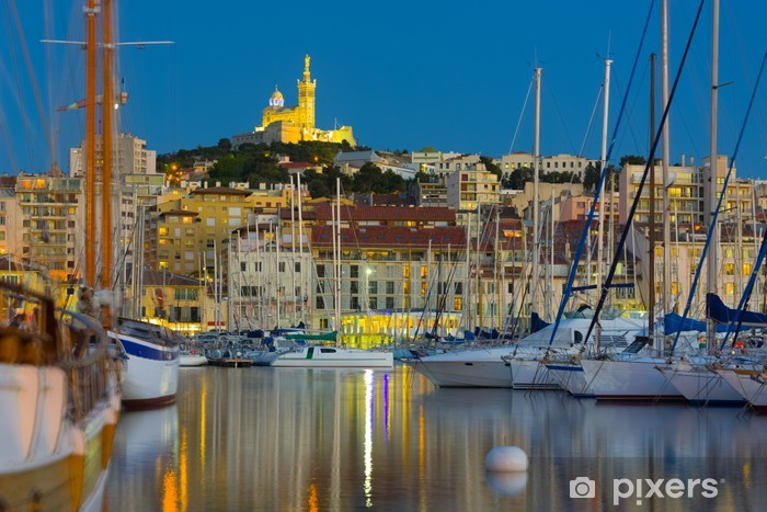 Pixerstick Sticker Jachten in de haven van Marseille - Europese steden