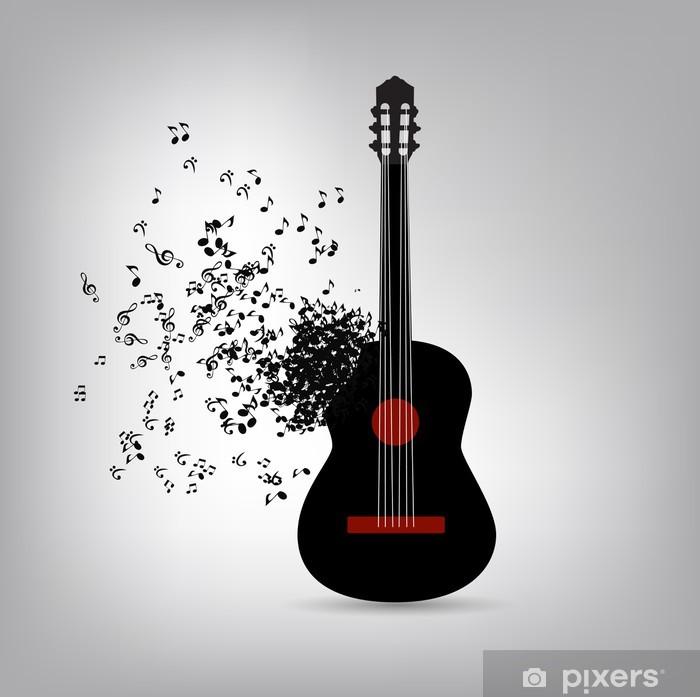 Sticker Pixerstick Musique abstraite illustration vectorielle de fond pour votre conception - Textures