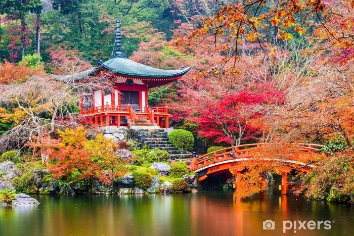 Papier peint vinyle Kyoto, Japon à Daigoji Temple à l'automne. - Bâtiments publics