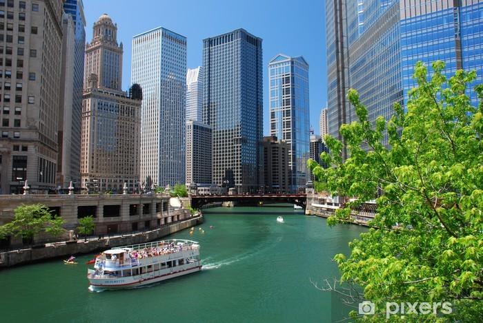 Vinilo Pixerstick Chicago river - Temas