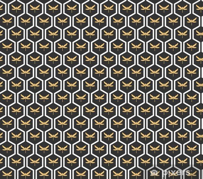 Art Deco seamless vintage wallpaper patterns vector. Pixerstick Sticker - Backgrounds